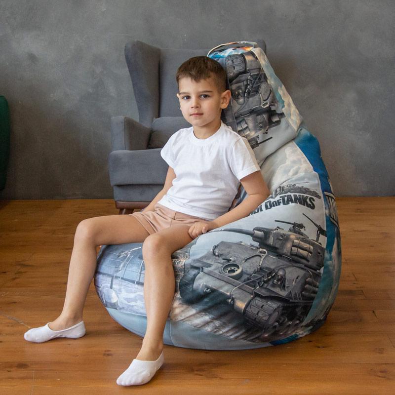 """Кресло-мешок Классик """"Танки"""""""