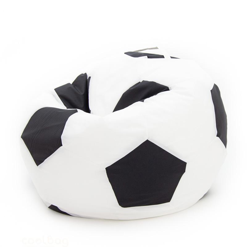 Кресло-мяч бело-чёрный 100 см
