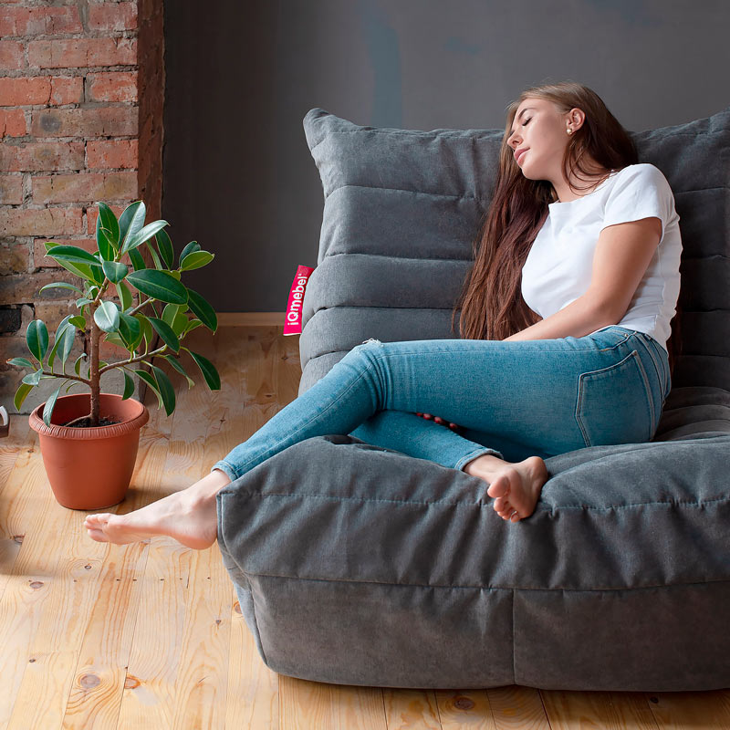 """Дизайнерское кресло """"Чиллаут Пудра Графит"""""""
